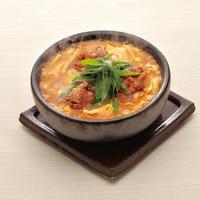 【北新地店限定】石焼き仕立て 鶏竜田とたっぷり筍 酸辣湯のおうどん