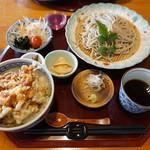明日葉 - 桜海老のかき揚げ丼セット