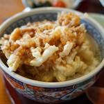 明日葉 - 桜海老のかき揚げ丼