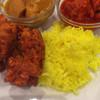 インド料理レストラン パペラ  - 料理写真:チキンカレー、チキンチリカレー、ガーリックチキンパコラ、サフランライス