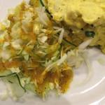 インド料理レストラン パペラ  - キャベツとかぼちゃサラダ