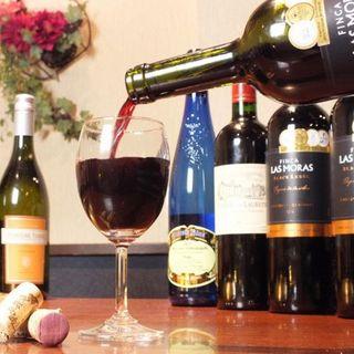 【期間限定ボトルワインプレゼント】プロ厳選のワインもご用意