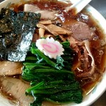 青島食堂 - チャーシューメン(並)¥850 +ホウレン草増し¥50