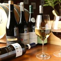 【充実のワイン】常時100種類以上ご用意しています!