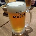 国分寺CHUBO はっぴ - 生ビール