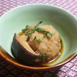 百姓屋敷 じろえむ - サトイモとシイタケと春菊の煮物
