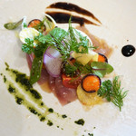 ビストロ オレイユ - 料理写真:ぶりのマリネと根菜のサラダ