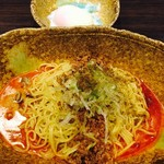 中華そば くにまつ - 汁なし担担麺2辛+温玉