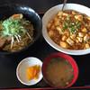 八福 - 料理写真:まぜそばと麻婆丼