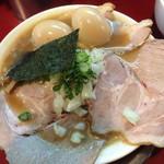 麺一盃 - 豚骨醤油ラーメン ※大盛、味付玉子2個、チャーシュー追加