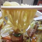 スタミナラーメン がむしゃ - 麺リフトアップ