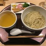 らぁ麺 山雄亭 - 「塩つけ麺~浅利出汁かけ~」1100円