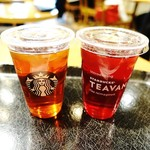 スターバックス・コーヒー - アイスティー&フレイバーティー!!ヾ(o´∀`o)ノワァーィ♪
