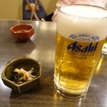 のと前回転寿司 - ビールはアサヒ