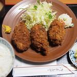三友 - カキフライ定食3個(1280円)