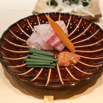 鮨 とかみ - 赤穂の鯛、からすみに鯛の酒盗