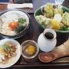 釜揚げうどん 鈴庵 - 料理写真:新あおさの磯辺天ぶっかけUDONと卵黄漬けシラス丼セット