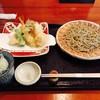 蕎麦うえ田 - 料理写真:ランチメニューから「弥生せっと」1600円  ★二八そば+旬の天ぷら盛り合わせ