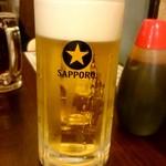 ホルモン青木 - 生ビール:500円外税