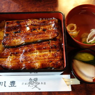 川豊 - 料理写真:上うな重3100円 肝吸い100円