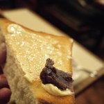 アロマ 珈琲 - 餡子をつけて