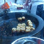 小陽生煎饅頭屋 - 焼きの様子