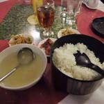 均元樓 - ご飯とスープ