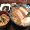 楚辺 - 料理写真:三枚肉そばセット 850円