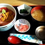 女川海の膳ニューこのり - 三色丼(うに)
