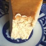 すみだ珈琲 - 定番チーズケーキのアップ