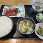 めしや天狗 - 料理写真:まぐろのぶつ切り定食
