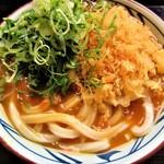 丸亀製麺 - 揚げ玉とネギ