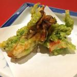 華やぎ - 牡蠣と竹輪の磯辺揚げ