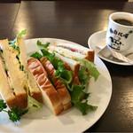 珈琲牧場 - ミックスサンド & 牧場ブレンドコーヒー