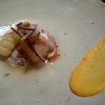 ペルー料理 bepocah - 本日の鮮魚、ライムとペルーのとうがらし「アヒ・リモ」のセビチェ