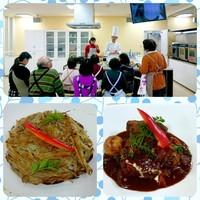 毎月シェフによる料理教室開催☆
