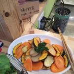 野菜ビュッフェ ツナギィーナ - 揚げ野菜