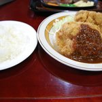 ウエノ - ジャンボチキンカツ定食