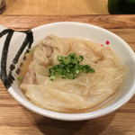 Japanese Soba Noodles 蔦 - 「皿ワンタン」350円