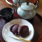 中将堂本舗 - 煎茶と2個セット(300円)