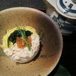 完全個室居酒屋 壱岐 - 「はかた鶏オリジナル鶏飯」には鶏白湯の出汁が付いてきます
