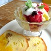 モーツァルトパパゲーノ - 料理写真:オレンジパウンドケーキとアイスクリーム