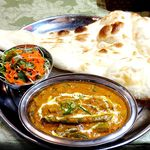 インド料理インディゴ - ヴェジタブルカレーランチ¥800