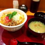 茨城マルシェ - 納豆親子丼