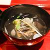 銀座 しのはら - 料理写真:お椀:あわび、花びらうど、卵くず豆腐