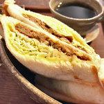 Cafeゆう - ホットサンド(デミグラスハンバーグ)