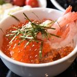ネストホテル レストラン - 自作いくら海鮮丼