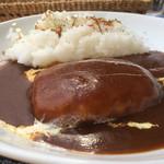 ケニーズハウスカフェ - チーズハンバーグカレー
