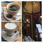 ケニーズハウスカフェ - コーヒー、ミルク、入口