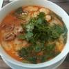 上海麻辣湯 - 料理写真:ラム、海老しんじょ、チンゲンサイ、香菜、大盛りで990円